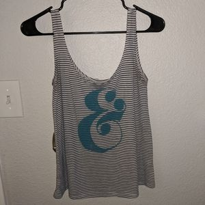 Striped Tank w Teal &